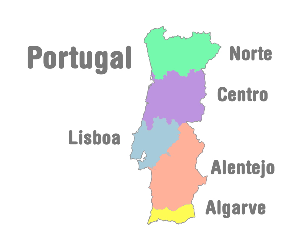 Halcyon Tours Portugal - Portugal norte map